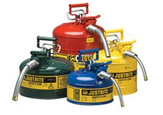 Justrite Metal Safety Gas Cans